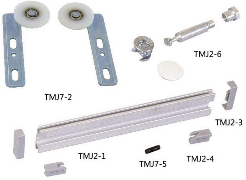 High quality 30 Sets/Carton sliding glass fitting cupboard sliding fitting