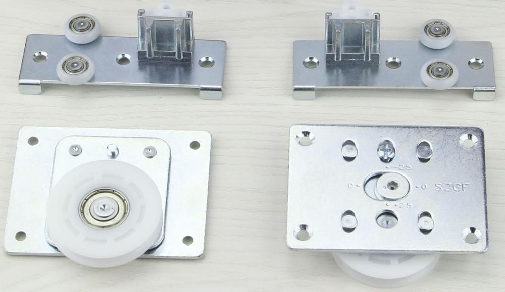 Hot sale 50KG Soft-closing sliding door bearing cupboard sliding door fittings